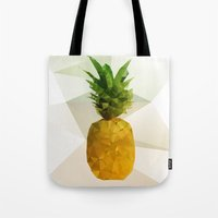 pineapple Tote Bags featuring Pineapple by Three of the Possessed