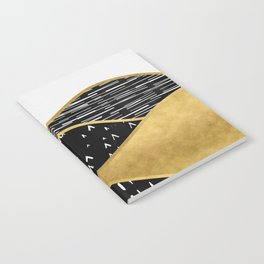 Gold Sun, digital surreal landscape Notebook