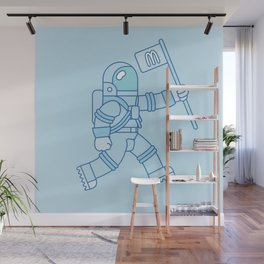 McAstronaut (Blue) Wall Mural