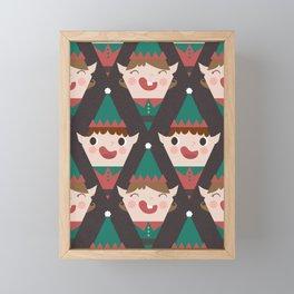 Santa's Little Helpers (Patterns Please) Framed Mini Art Print
