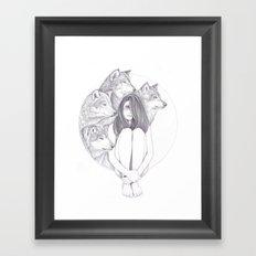 Company Of Wolves Framed Art Print