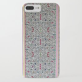 Song to Bring Blessings to a Marriage - Traditional Shipibo Art - Indigenous Ayahuasca Patterns iPhone Case