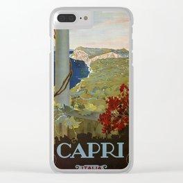 Isle of Capri Italian travel ad Clear iPhone Case