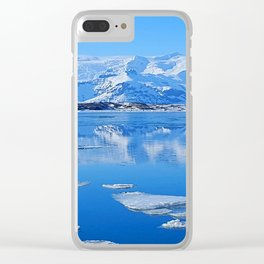 Ice Lake Iceland Clear iPhone Case