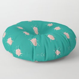 arthropod teal Floor Pillow
