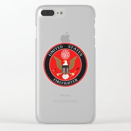 Firefighter Symbol Clear iPhone Case