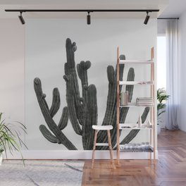 Black and White Cactus Wall Mural