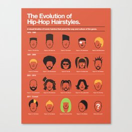 The Evolution Of Hip-Hop Hairstyles Canvas Print
