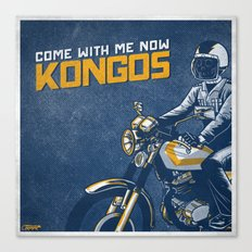 7 inch series: KONGOS - come with me now Canvas Print