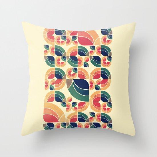 Vintage Garden Pattern v.3 Throw Pillow