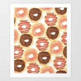 Mmm, Donuts. Art Print