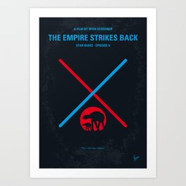 No155 My SW Episode V minimal movie poster Art Print
