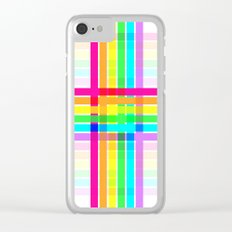 Weaved Rainbow Clear iPhone Case