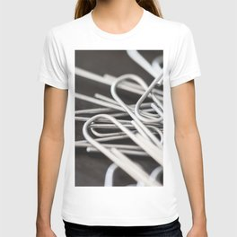 Pile of Silver Paper Clips Close Up T-shirt