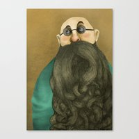 beard Canvas Prints featuring Beard by Slavena Peneva