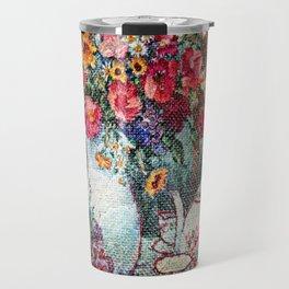 Vintage Tea Party Bouquet Travel Mug
