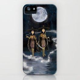 Sisters, Kubo digital painting iPhone Case