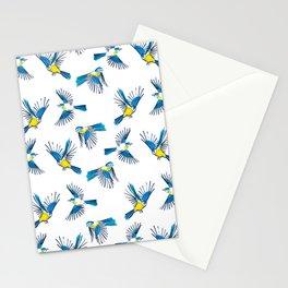 Flying Blue Tit / Bird Pattern Stationery Cards