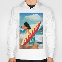 surfer Hoodies featuring Surfer by colortown