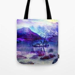 Abstract Winter Lake Tote Bag