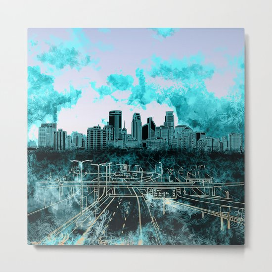 minneapolis city skyline Metal Print