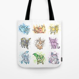 Eeveelutions - Splatter Tote Bag