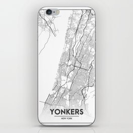 Minimal City Maps - Map Of Yonkers, New York, United States iPhone Skin