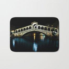 Rialto Bridge, Grand Canal, Venice, Italy Landscape by Jeanpaul Ferro Bath Mat
