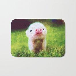 CUTE LITTLE BABY PIG PIGLET Bath Mat