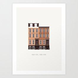 New York, NY Brownstone Art Print