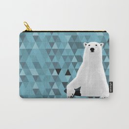 Polar Bear (in a hole in the ice) Carry-All Pouch