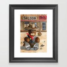 Sheriff Bear Framed Art Print