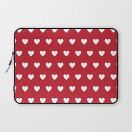 Polka Dot Hearts - red and white Laptop Sleeve