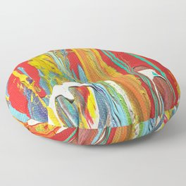 Abstract Circus Clown Floor Pillow