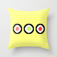 Pixel Maki Sushi Throw Pillow
