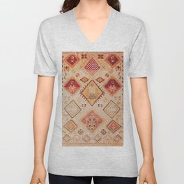 Traditional Oriental Desert Bohemian Moroccan Style  Unisex V-Neck