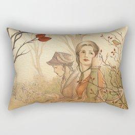 Jane Austen, Mansfield Park - the Garden Rectangular Pillow