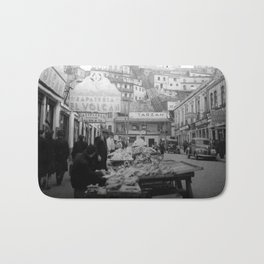 """Valparaiso Chile: Waterfront district showing """"ascensors"""" up to top of bluff. June, 1941. Bath Mat"""