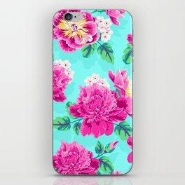 Bright Flowers Pretty Peonies iPhone Skin