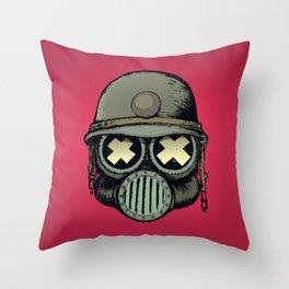 War Skull v2 Throw Pillow
