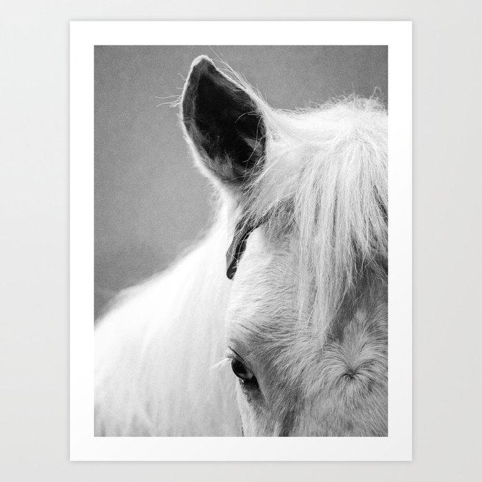 The White Horse Art Print