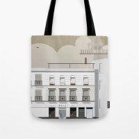 buildings Tote Bags featuring Buildings by Studio Caravan