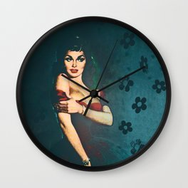 Flower In A Smoky Room Wall Clock