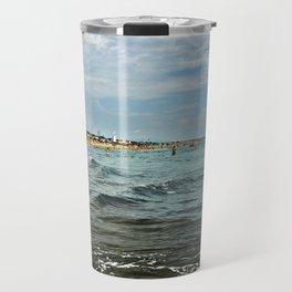Versilia Italy Beach Ocean Coast View Horizontal Travel Mug