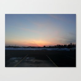 MI Sunset Canvas Print