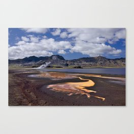 Iceland volcanic mountains at summer day Canvas Print