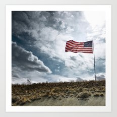 Stripes and stars Art Print