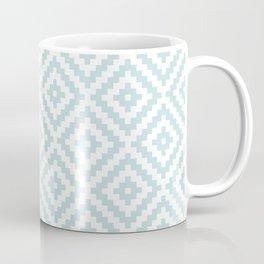 Aztec Block Symbol Ptn Blue & White I Coffee Mug