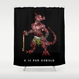 K is for Kobold Shower Curtain