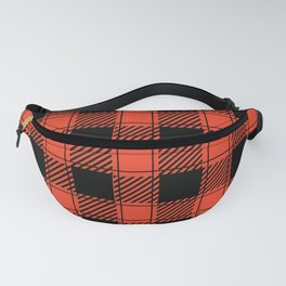 Twisted Classic Red Plaid Fanny Pack